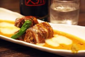 豚の角煮と季節の野菜添え』
